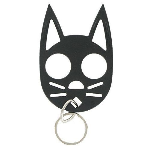 The Cat Self Defense Key-chain can be attached to keys or easily stowed elsewhere. Made in the USA of polymer plastic that is strong and durable. This keyring will give you the edge you need against u