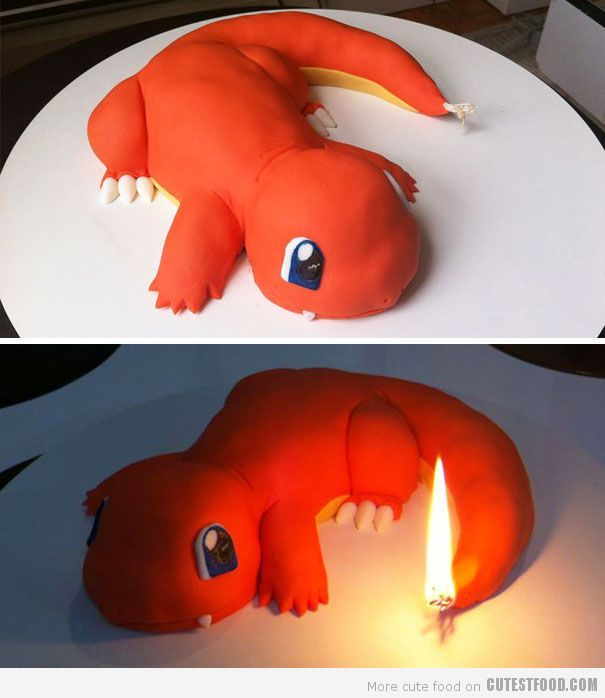Charmander Pokemon Cake