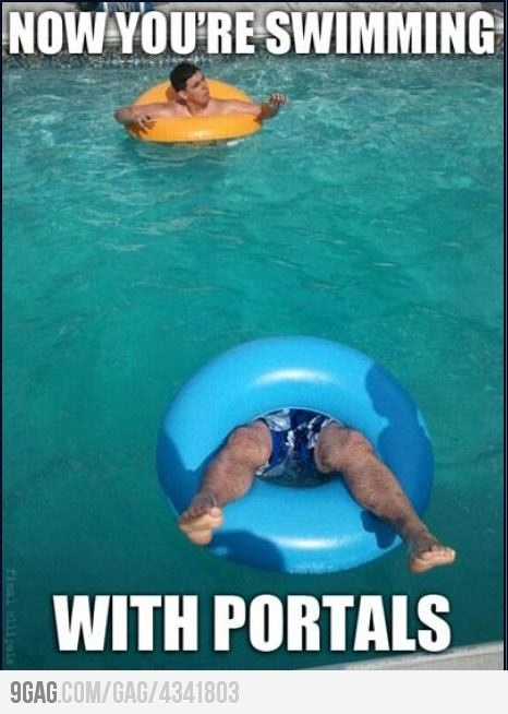 Portal.: Geek, Swimming Pools, Funnies Pictures, Gamer Humor, Nerdy, Awesome, Videos Games, Portal Pools, Funnies Stuff