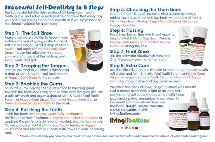 Successful Self-Dentistry in 8 Steps - Living Libations