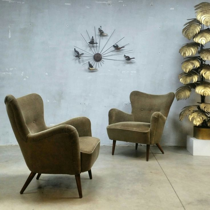 Unique fifties wingback chairs,  soon online www.bestwelhip.nl