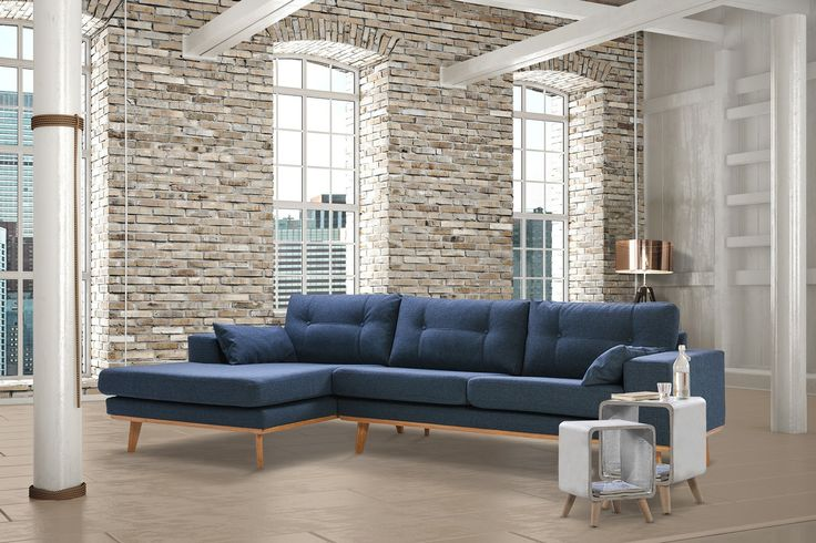 Loungebank Grace uitgevoerd in de kleur blauw | Ruime keus & Snel leverbaar!