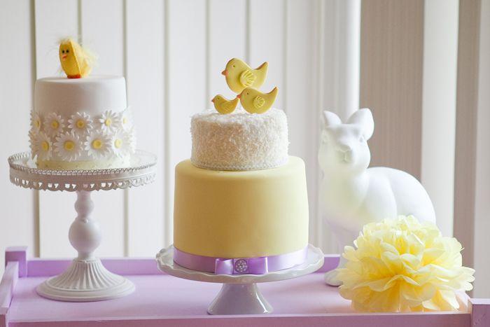 yellow petite cakes