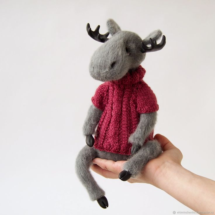 Buy Knitted interior toy in the style of Teddy Moose Valery on Livemaster online shop