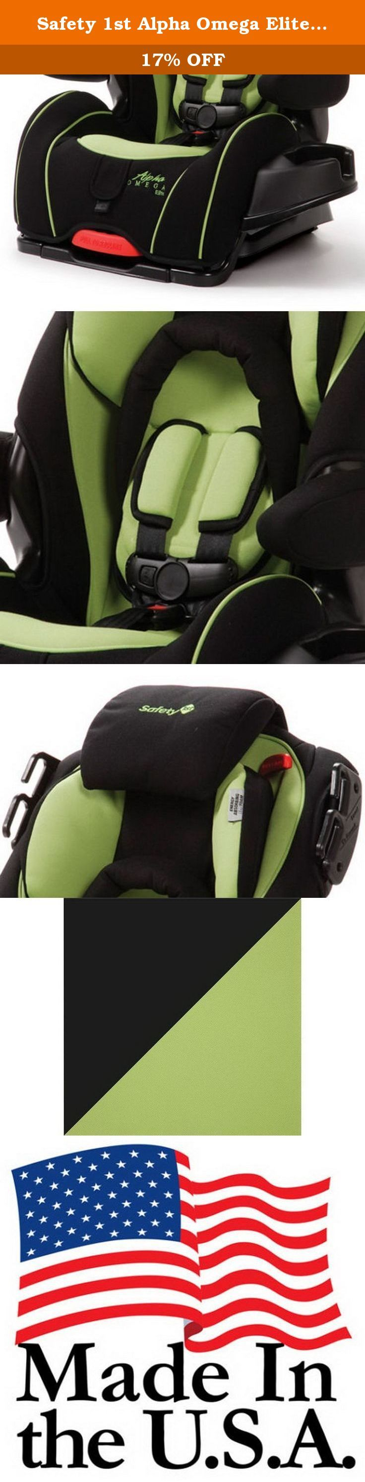 Safety 1st Alpha Omega Elite Convertible 3-in-1 Baby Car Seat, Triton| CC061TRI. - The Safety 1st Convertible Car Seat is a versatile, extended-use car seat with superior comfort and convenience features which will please parents and children alike. - It starts as a rear-facing infant car seat, converts to a forward-facing car seat and later transitions into a belt-positioning booster. - Its seat pad is easily removable for quick cleaning. - The Safety 1st Convertible Car Seat provides...