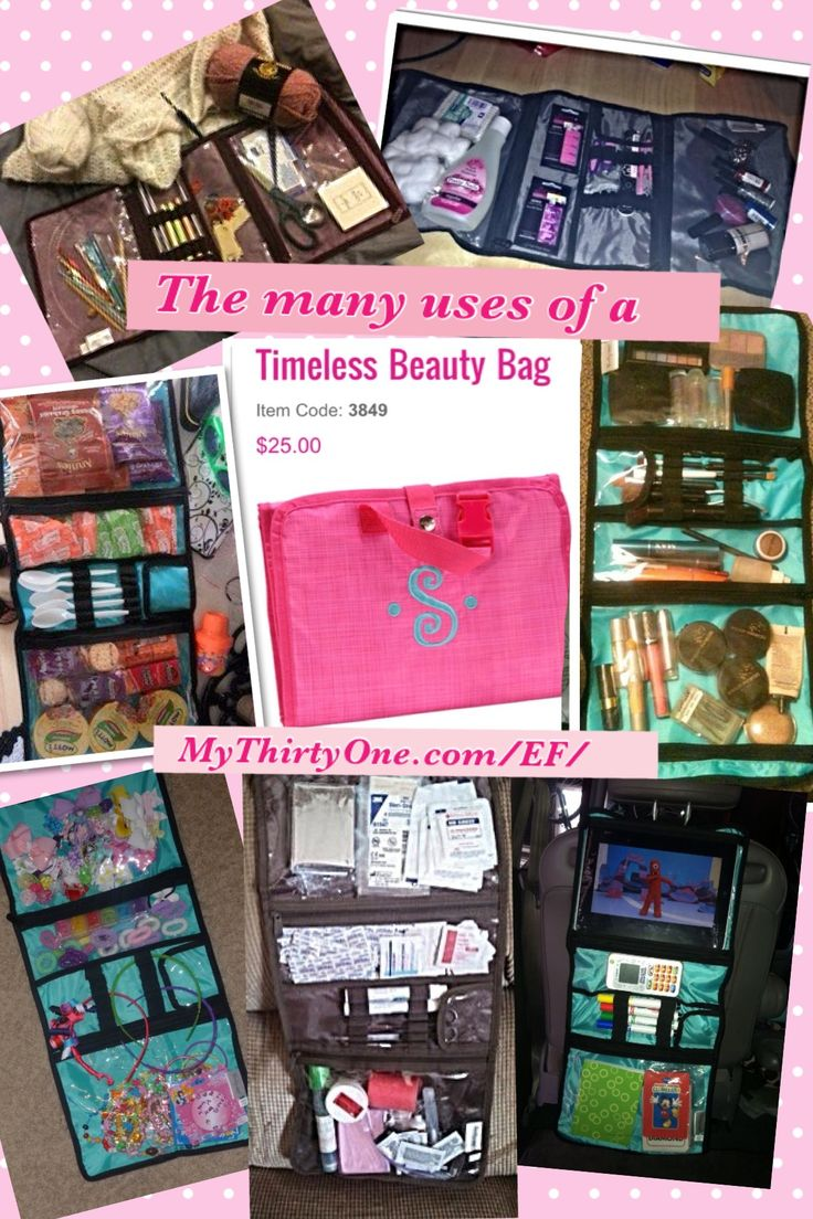 So many uses for just one bag from ThirtyOneGifts the timeless beauty bag! Love love