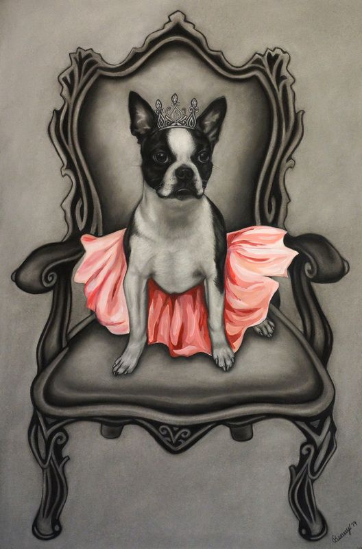 """""""Princess"""" charcoal and acrylic drawing by Courtney Kenny Porto"""