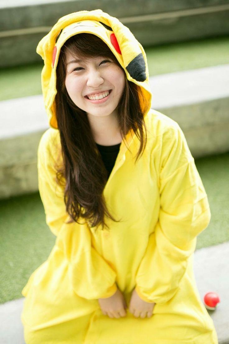 Pikachu girl❤️ #pikachu #smile