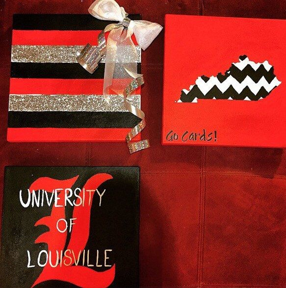 University of Louisville Cardinal paintings (3) | Stetch Canvas | 12 x 12 in. by TheColorBookworm on Etsy https://www.etsy.com/listing/225609597/university-of-louisville-cardinal