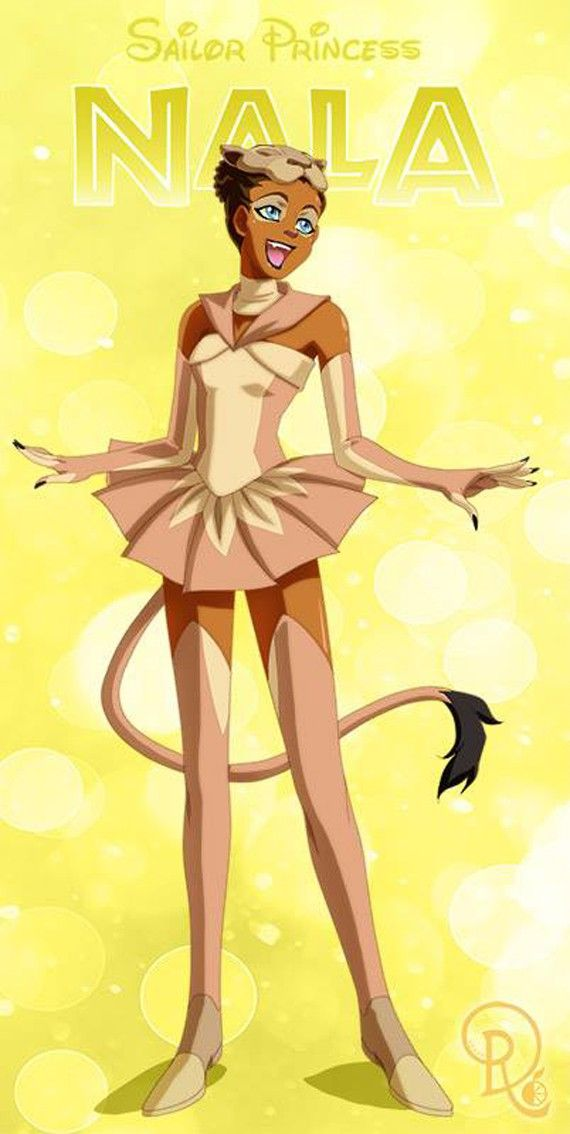 Les personnages féminins de Disney en mode Sailor Moon - Nala