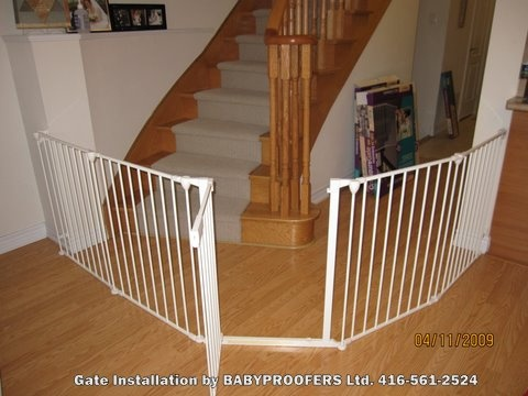 Extra Wide Baby Gate for stairs and hallway.