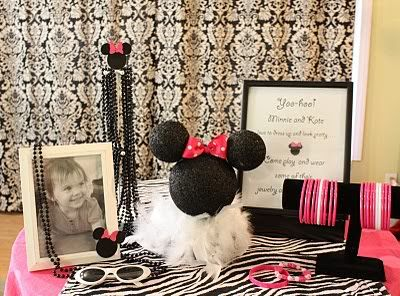 @Jessica Sutton Kruse Mueller Easy Minnie- looks like 3 spray painted black styrofoam balls with a bow, plus I love the boa feathers and black beads