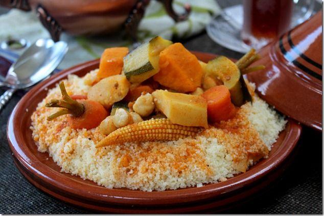 couscous aux legumes, couscous vegetarien