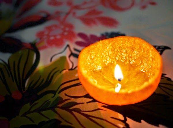 Φτιάξτε αρωματικό κερί από πορτοκάλι