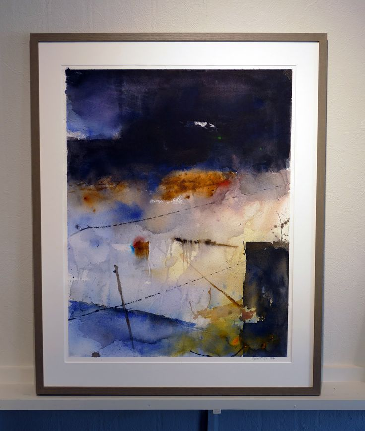 Composition. Watercolor by Stig-Ove Sivertsen at Galleri SOS.