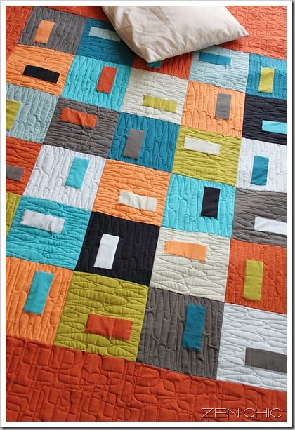 Puzzle Box Quilt by Zen Chic on the Moda Bake Shop