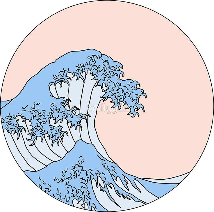 aesthetic wave   Sticker