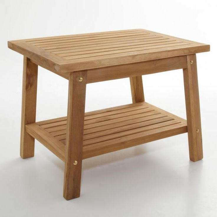 teak shower stool with shelf ada compliant