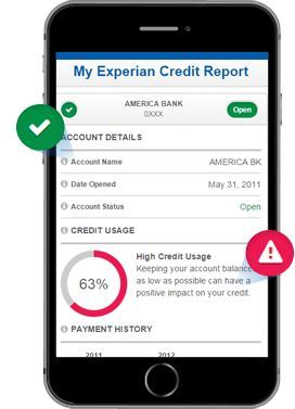 free Experian credit report template