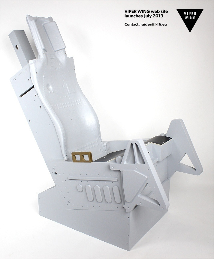 ACES ejection seat replica - assembled, painted and delivered to your door worldwide! Seat back molded from the real seat.
