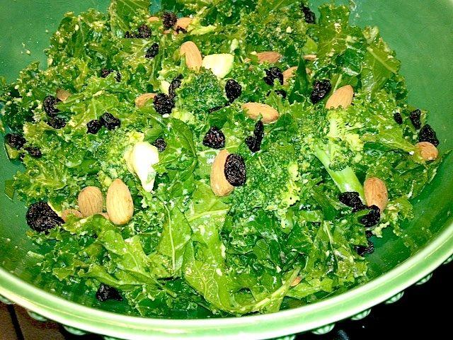 Winter Super Green Kale Salad