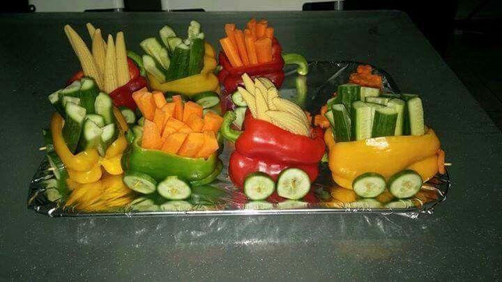 Cute veggie display