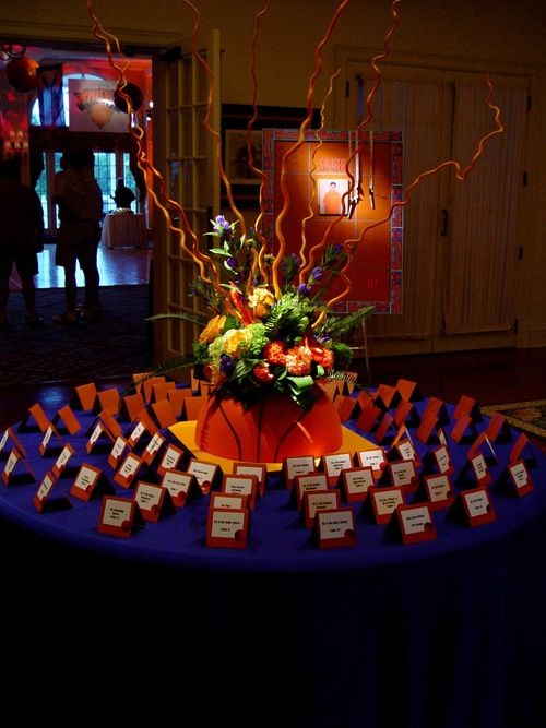 Sports theme centerpieces decor and lighting by eggsotic for Decor 4 events