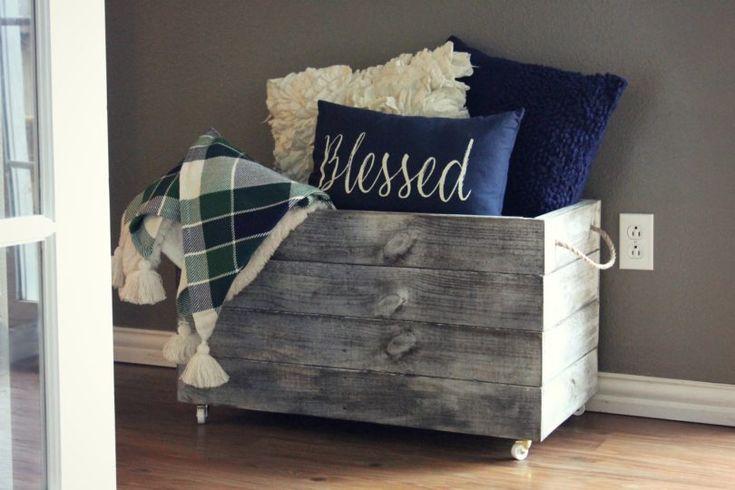 So bauen Sie eine DIY-Holzkiste für zusätzlichen Stauraum zu Hause   – Home decor