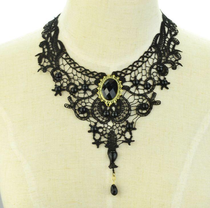 Monili di modo fresco Del Merletto Del panno Del Tatuaggio Falso del collare del choker collana regalo per le donne ragazza N1913