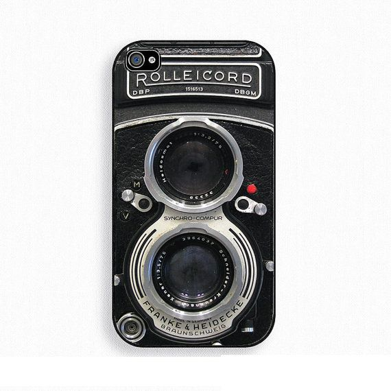 Vintage Camera iphone Case 4 & 4s, Retro photo camera Rolleicord on Etsy, £9.50