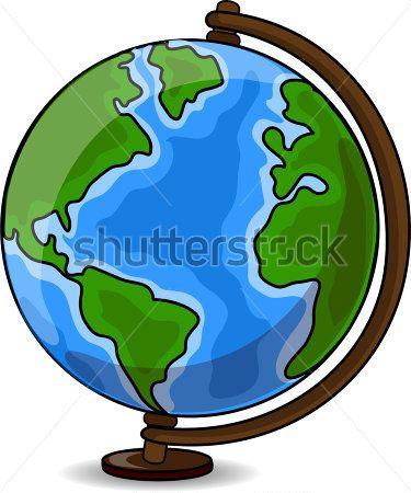 Resultado de imagen para globo terraqueo dibujo animado