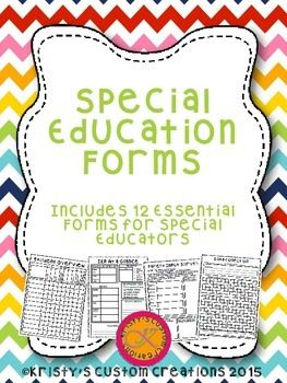 This set of forms includes 12 essential forms for special educators. These forms will make you life so much easier! Forms included are: Student Overview- includes grade, goal ares, related services, etc, all on one page for your whole roster IEP at a Glance- this is great to give to general education teachers for a brief overview of each student Student Accommodations/Modifications- list them all on the easy to use form so they are all in one place IEP/ETR Dates- Use this fo