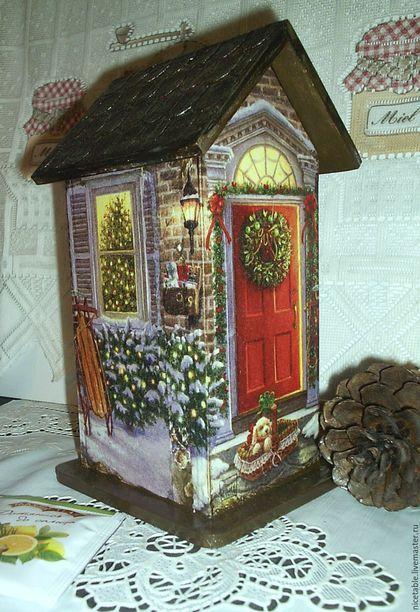 Чайный домик, купить домик, домик, чайная шкатулка, Ярмарка мастеров, ручная работа, Handmade, купить домик, подарок к Новому году, Новый год, Рождество, новогодний сувенир, подарки.