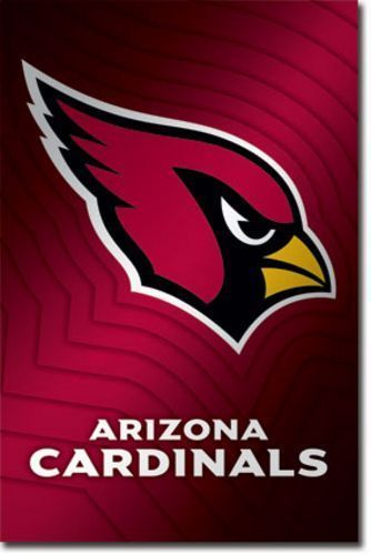 FOOTBALL POSTER Arizona Cardinals Logo NFL #Realism
