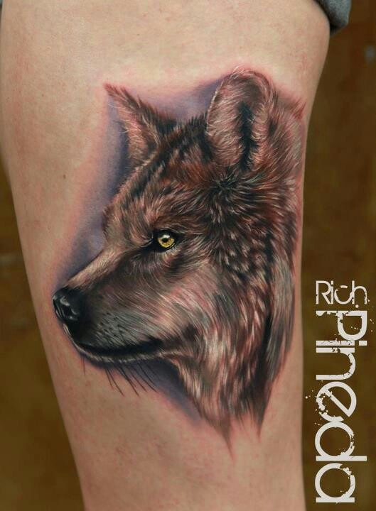 60 best wolf tattoos images on pinterest tattoo ideas for Wolf tattoo with feathers