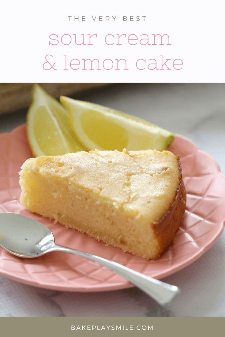 The most deliciously moist and tangy Sour Cream & Lemon Cake. Perfect served on it's own, or heated up with a dollop of cream. #lemon #sour #cream #cake #easy #thermomix #conventional #baking