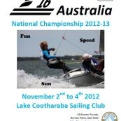 """F16 National Championships 2012/2013  To be held at Lake Cootharaba """"This is an event not to be missed, whether you sail or not,come along and watch this exciting event """"Bring the family and have fun"""""""