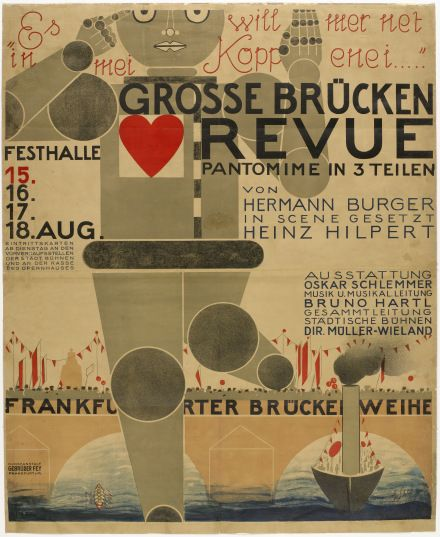 Oskar Schlemmer Poster for the Great Bridge Revue (Große Brücken Revue) 1926