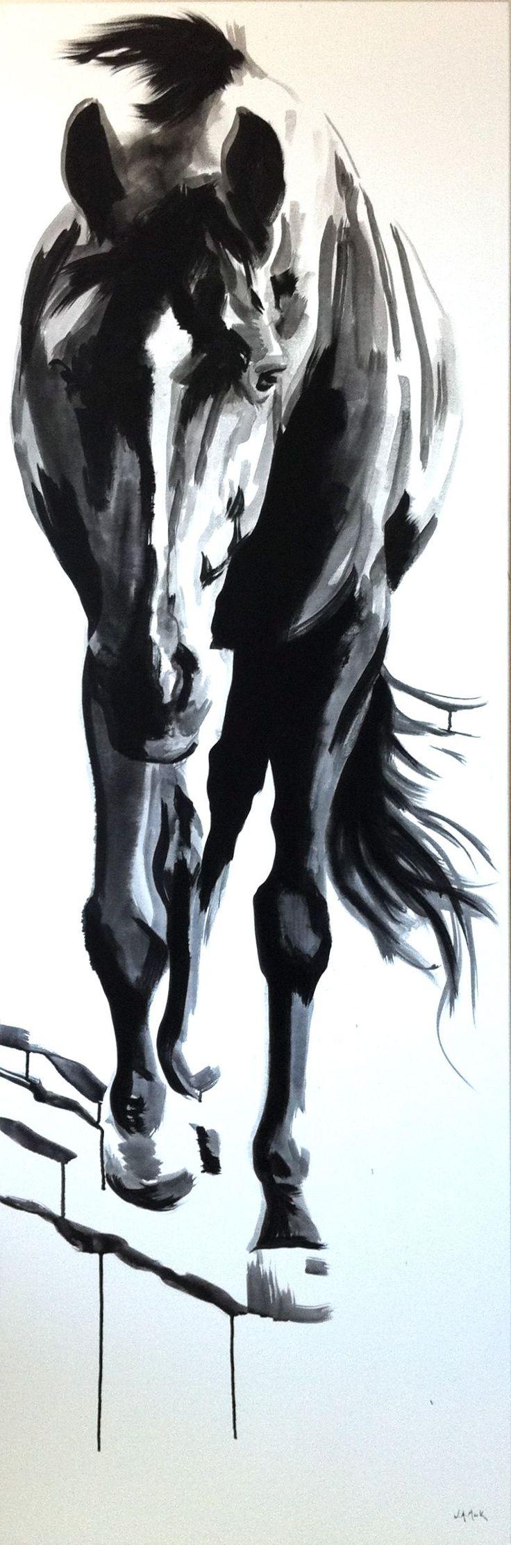 #wwwjmackfineartcom #jennifer #shasta #canvas #pferd