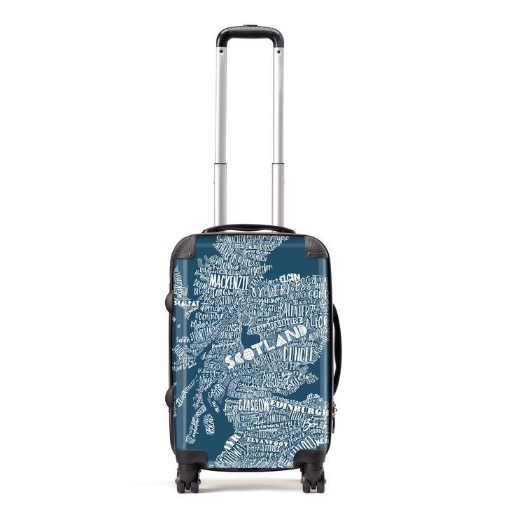 Gillian Kyle has designed these suitcases especially for you to celebrate your Scottish-ness, wherever you are in the world! These luxury lightweight suitcases comes in a range of sizes and can be shipped worldwide to you in about one week.