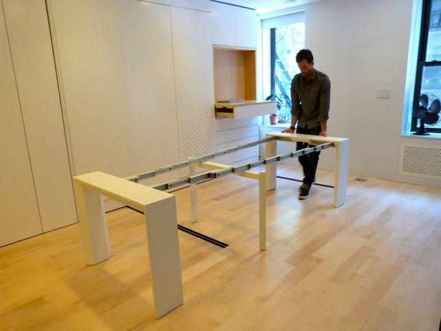 1000 ideas about table retractable on pinterest bureau petit espace plan de travail and tables. Black Bedroom Furniture Sets. Home Design Ideas