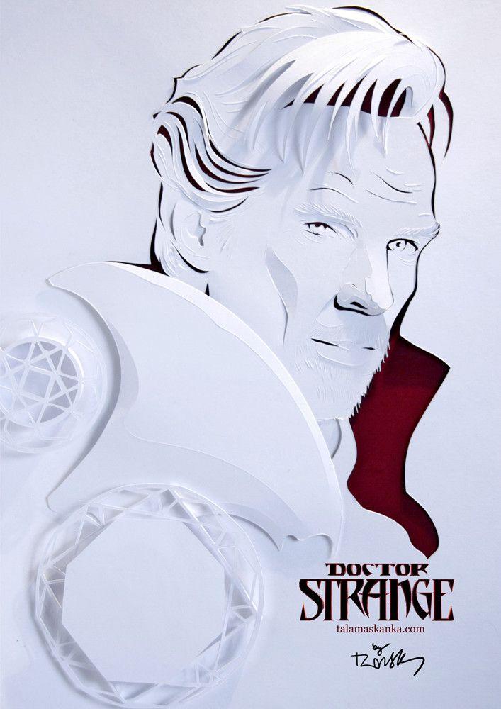 Dr. Strange paper portrait. Benedict Cumberbatch fan art