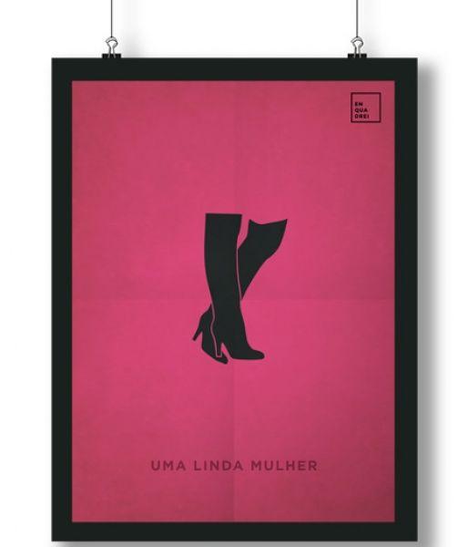 Pôster/Quadro minimalista  Uma Linda Mulher