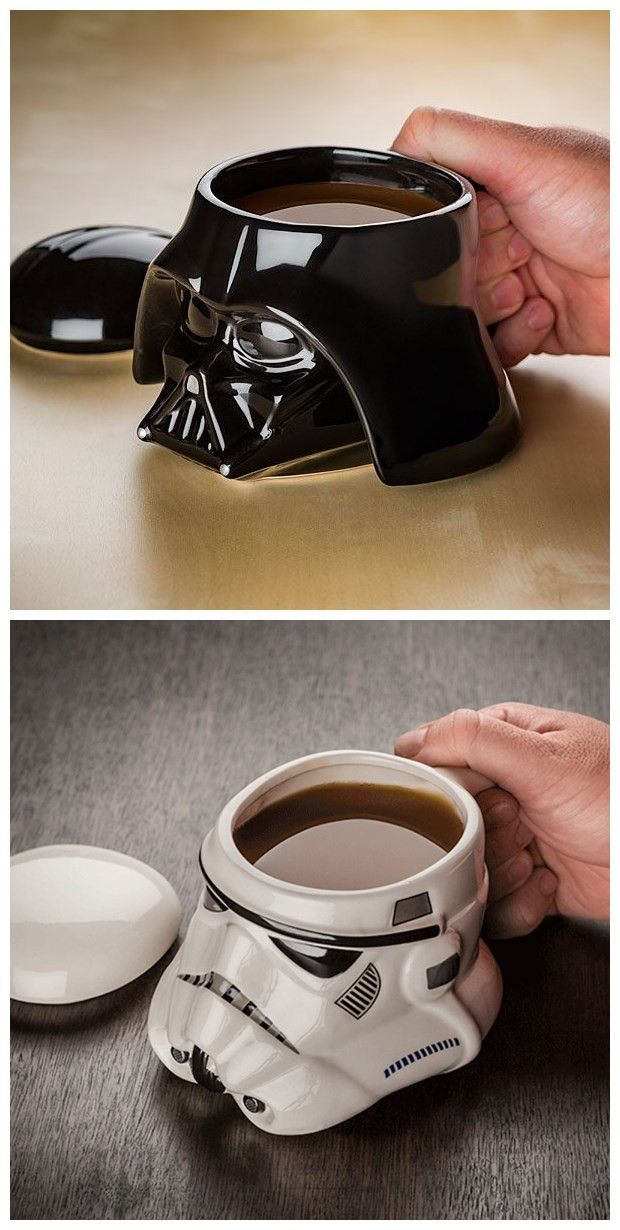 Star Wars Darth Vador & Storm Trooper Covered Helmet Mugs ♡ #starwars #coffee #tea