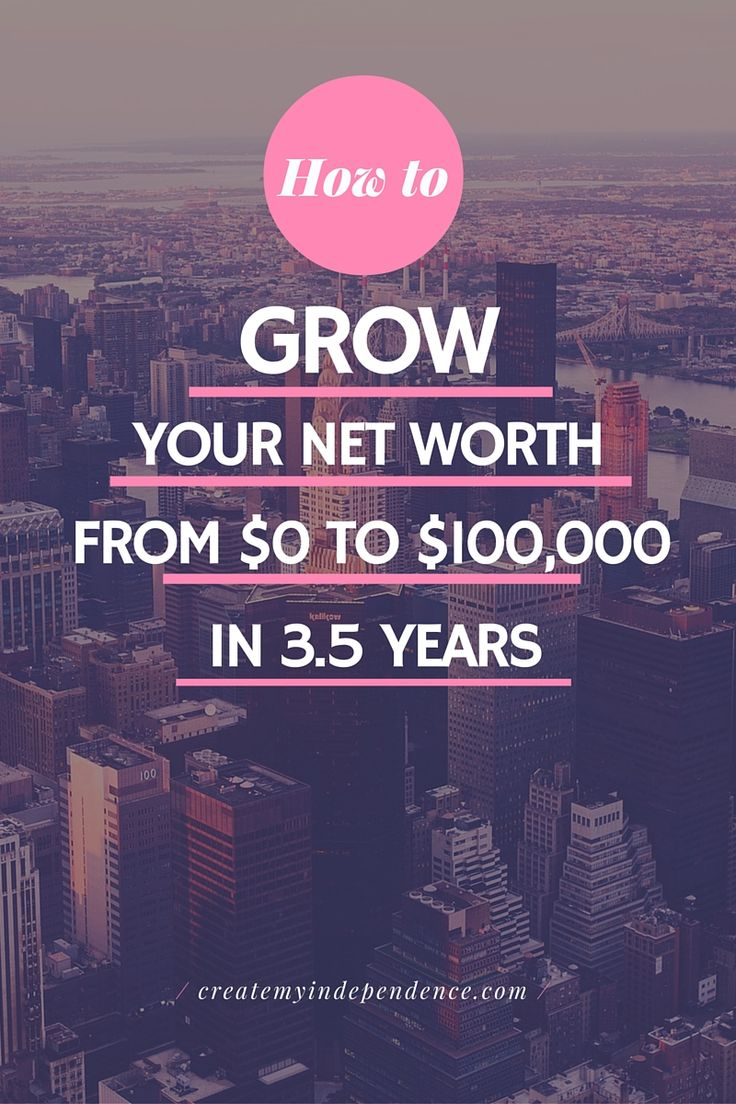 How to Grow Your Net Worth from 0 to 100000 in 3.5 Years