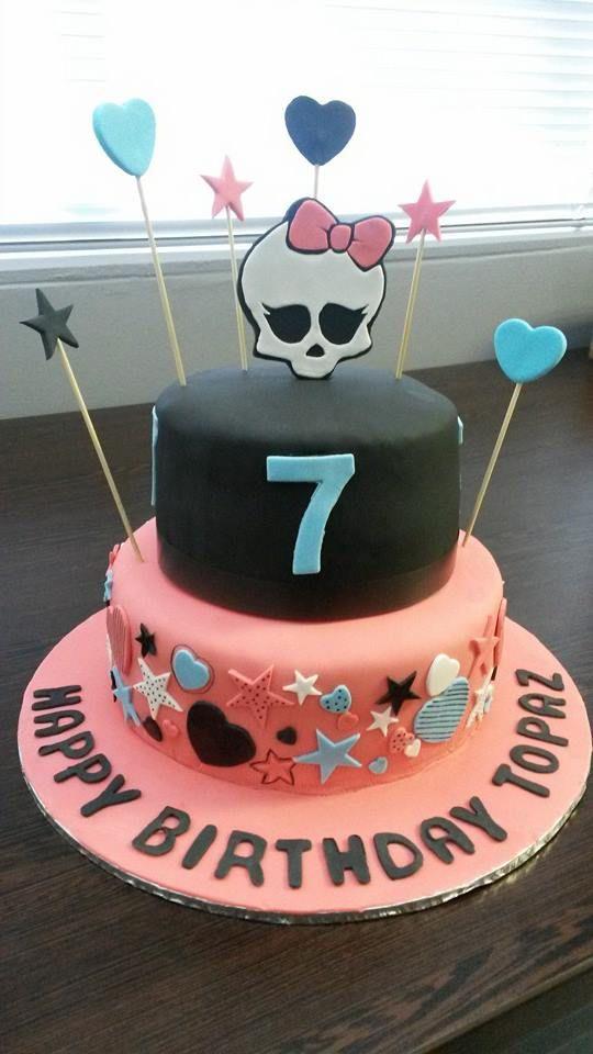 Monster High themed birthday cake