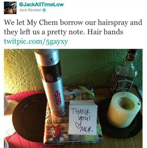 All Time Low and My Chemical Romance a.k.a. Hair Bands.