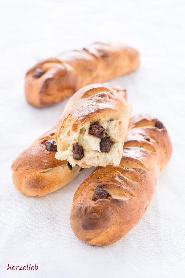 Schokoladen-Brioche Brötchen für ein leckeres Sonntagmorgen-Frühstück - eiinfaches Rezept