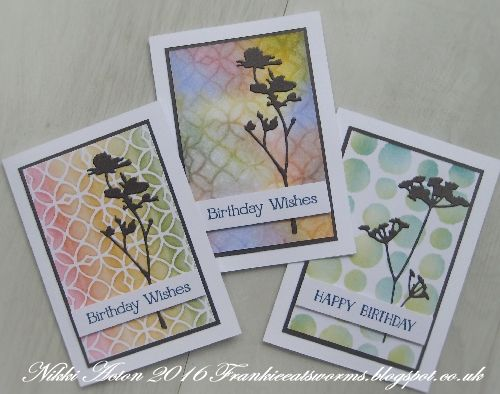 Addicted to Art - Tim Holtz Wildflower and Layering Stencil