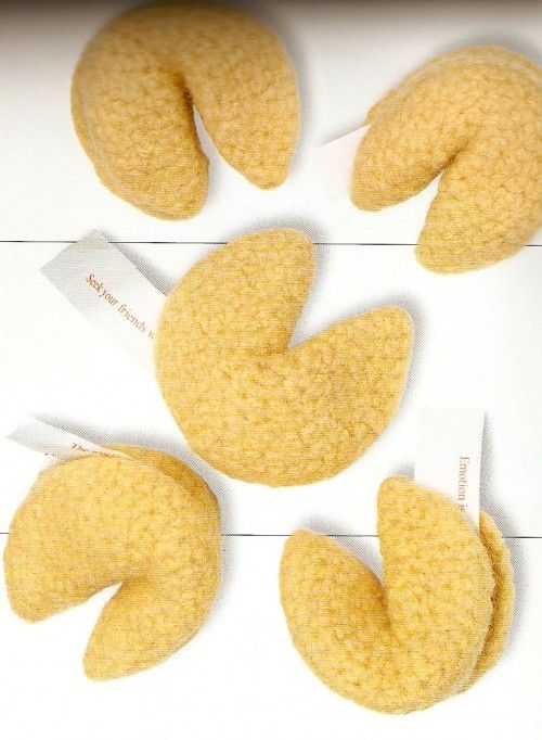 Amigurumi Fortune Cookie Pattern : Fortune kookies pattern by donna may in the book kooky